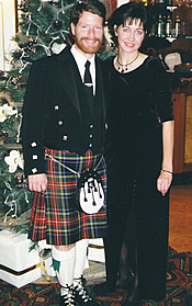 Jimmy Mitchell The Texas Bagpiper and fiancee